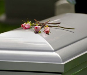 Los Angeles Wrongful Death Attorney - white coffin