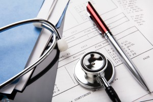 LA Medical Malpractice Lawyer - stethoscope and medical files