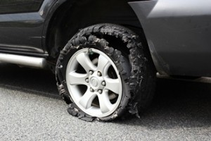LA Product Liability Lawyers - exploded truck tire