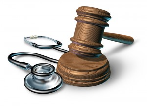 LA Medical Malpractice Attorney - gavel and stethoscope