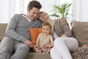Los Angeles Birth Injury Attorney family on couch
